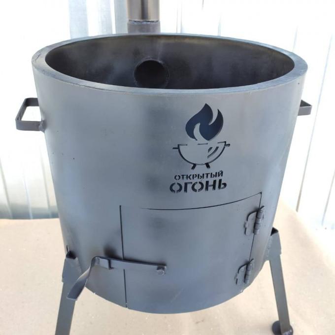 Печь с трубой 360мм Логотип