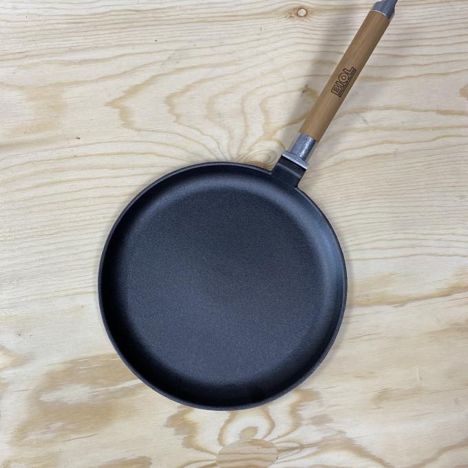 04221 сковорода 220 блинная со съемной ручкой с ров. Бортом БИОЛ
