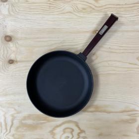 """Сковорода-сотейник 260х60 """"ОПТИМА"""" с дерев.ручкой бордо BRIZOLL"""