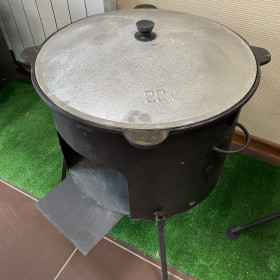 Казан 16л + печь без трубы