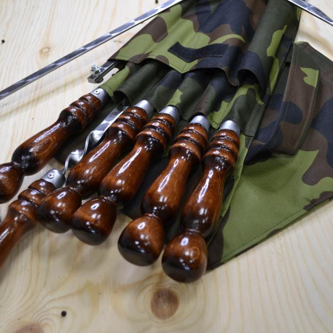 Набор  6 шампуров  в чехле малый с мангалом