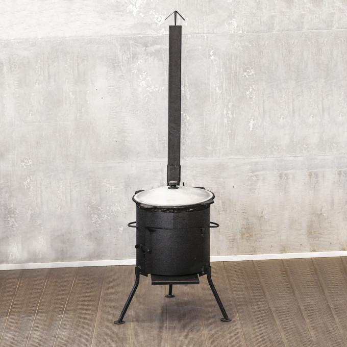 Казан 10л + печь с трубой