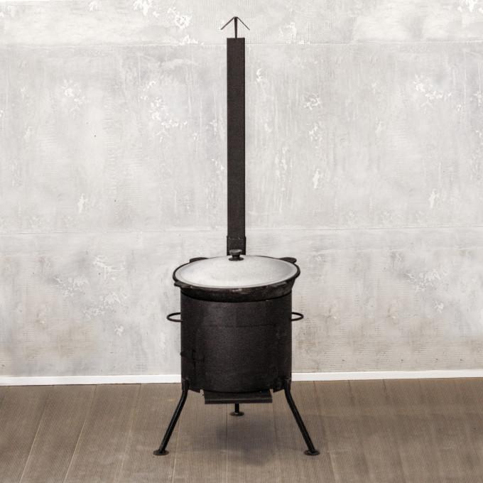 Казан 12л + печь с трубой