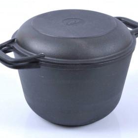 Кастрюля 6л с крышкой-сковородой Биол