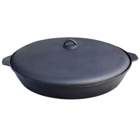Сковорода чугунная 340х60 мм. с крышкой БЛМЗ